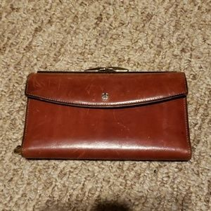 Vintage Bosca hand stained wallet